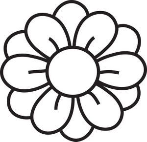 300x291 Flower Outline Clipart
