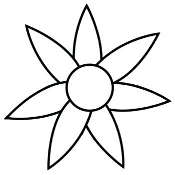 350x351 Free Daisy Flower Outline Download Free Clip Art Free Clip Art