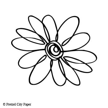 349x349 Large Outline Daisy Pretzel City Paper