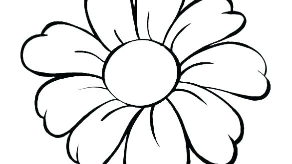 585x329 Flower Outline Coloring