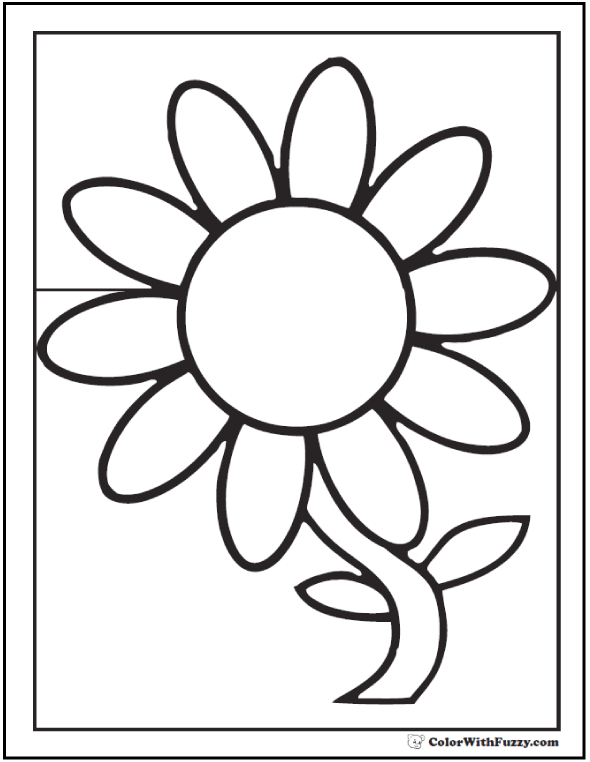 590x762 Daisy Coloring Pages Flower Outline