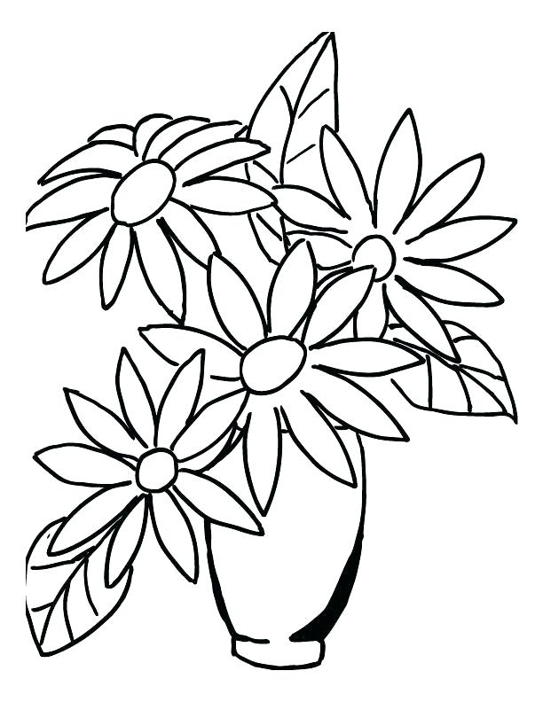612x792 Flowers Drawn Coloring