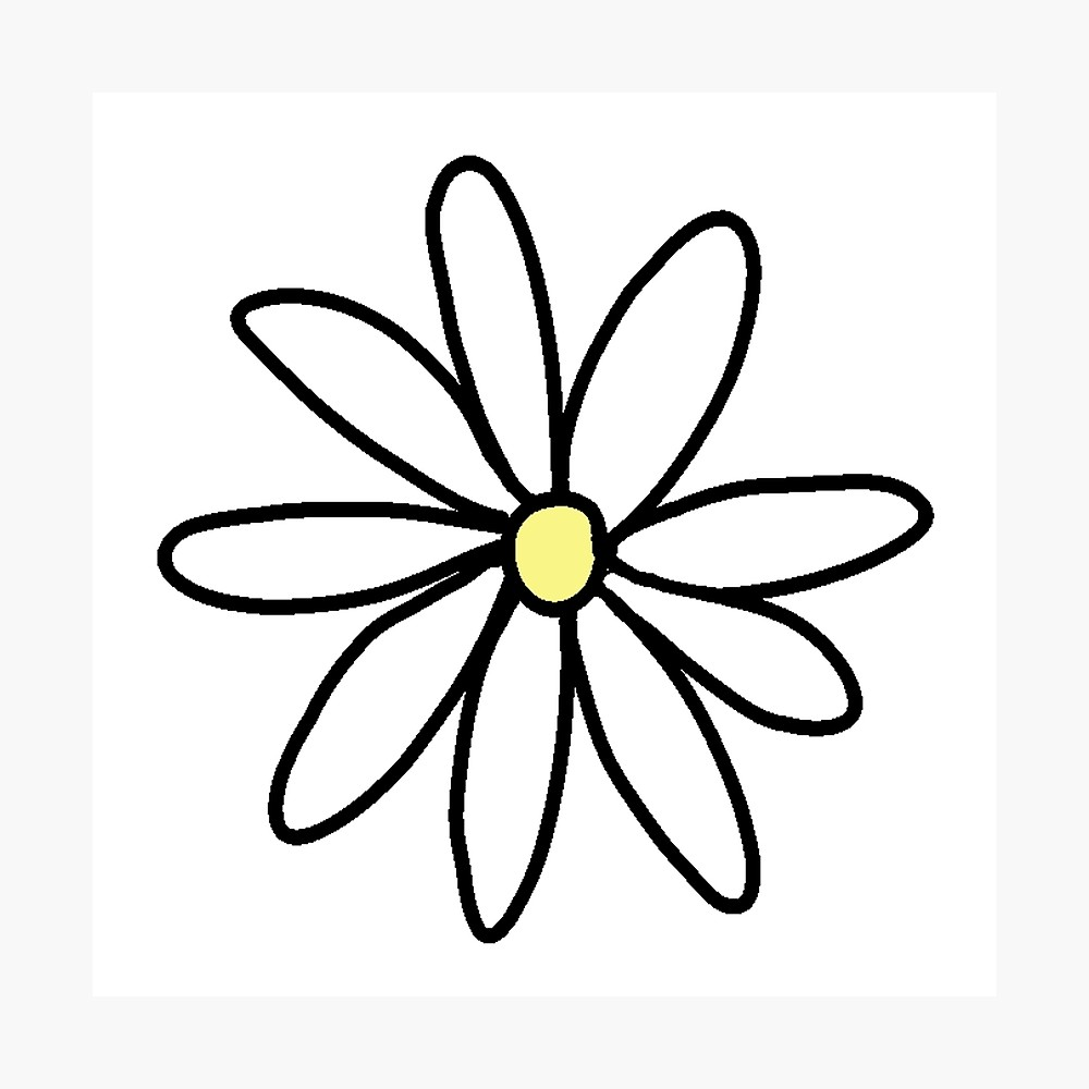1000x1000 Tumblr Daisy Photographic Print