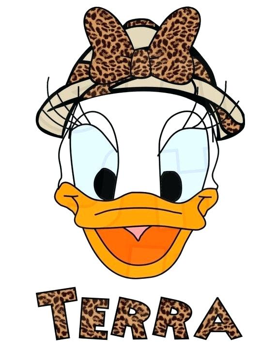 570x726 daisy duck head safari daisy duck head digital iron on transfer