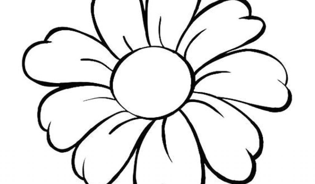 1024x600 Drawing Of Daisy Flowers Daisy Flower Daisy Flower Outline