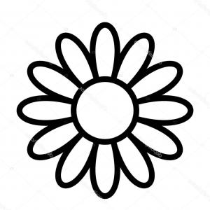 300x300 Photostock Vector Hand Drawn Line Art Flower Vector Drawing Of Two