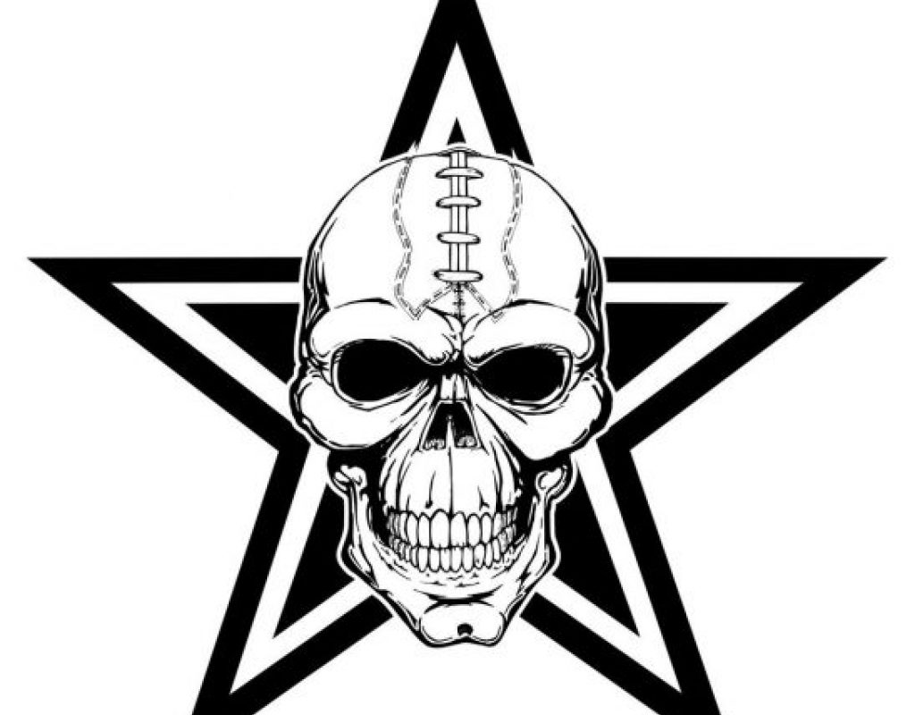 1024x800 Dallas Cowboys Coloring Pages Logo Nfl Sheet Staggering Cowboy