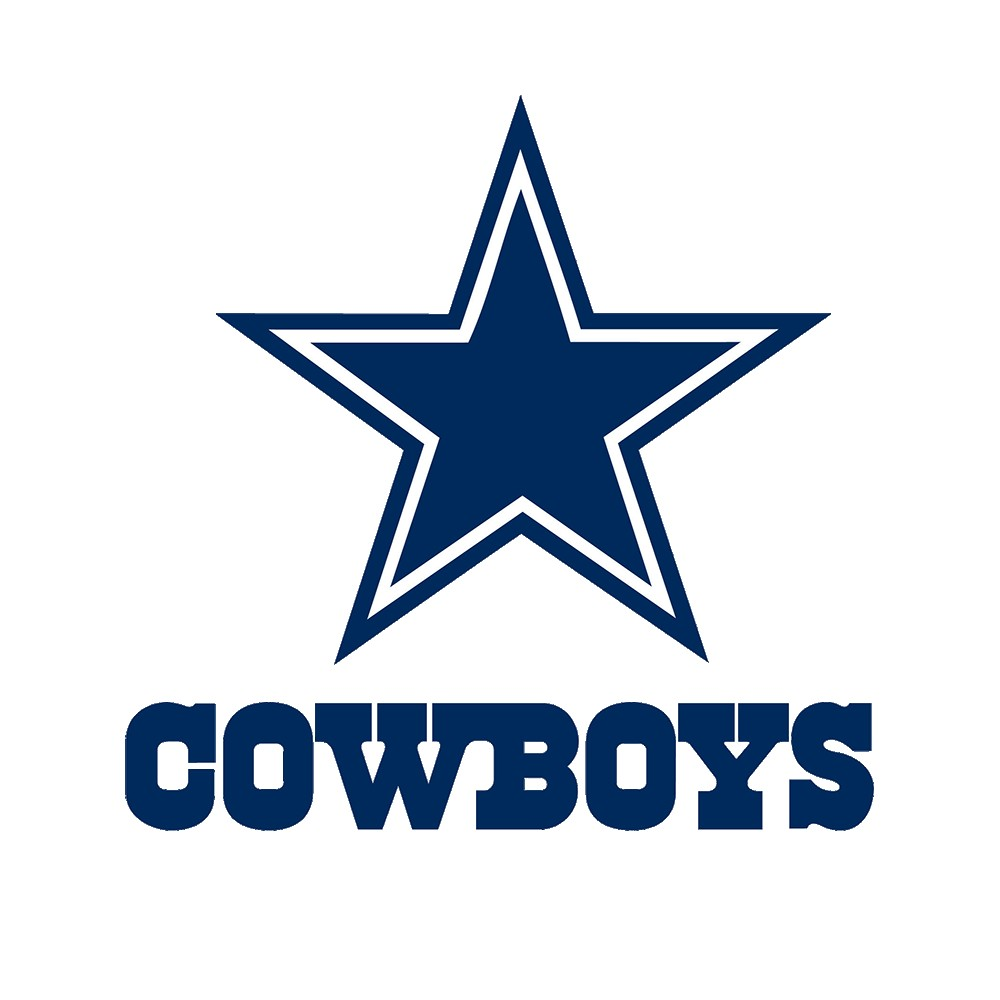 1000x1000 Dallas Cowboys Logo Black And White