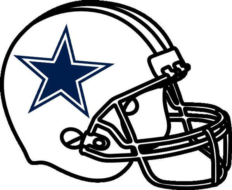 794x650 Dallas Cowboys Helmet Nfl Football Team Logo Wall Decal Vinyl Etsy