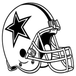 300x300 Dallas Cowboys Helmet Team Vinyl Logo Sports Free Shipping
