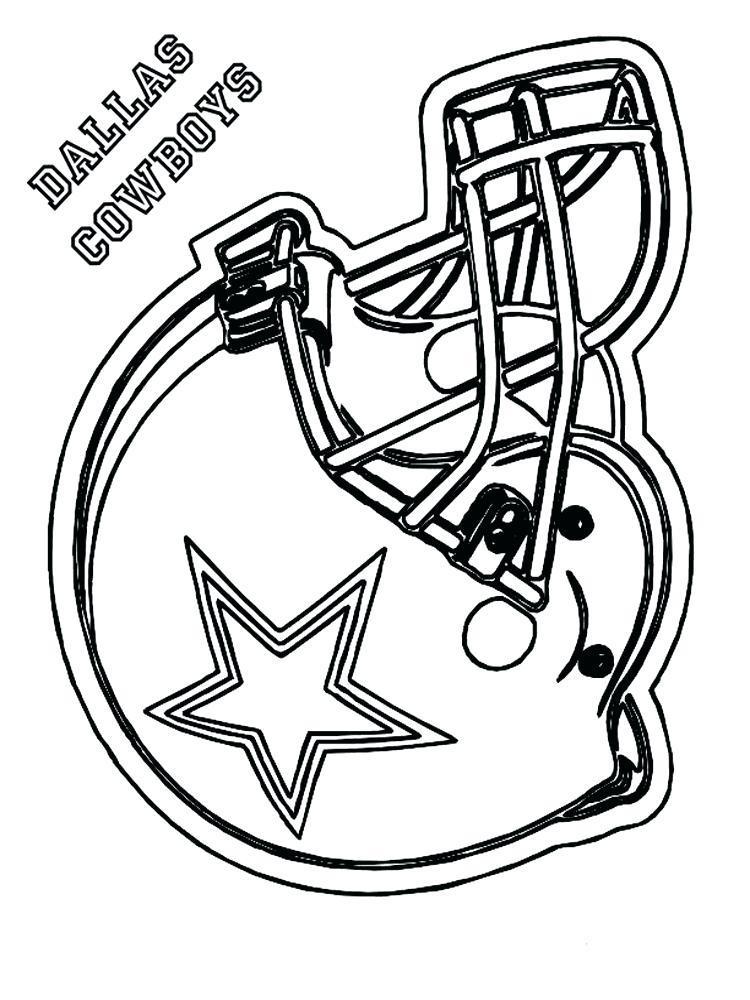 750x1000 Dallas Cowboy Coloring Football Pages Free