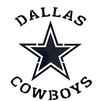 355x355 Dallas Cowboys Logo Stencil Reusable Mancave Sports