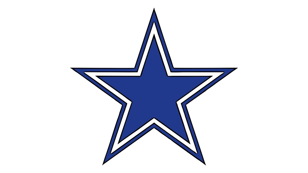 1280x720 How To Draw The Dallas Cowboys Logo