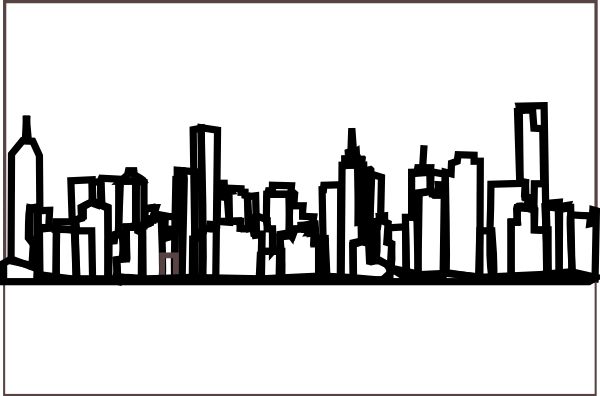 Dallas Skyline Drawing