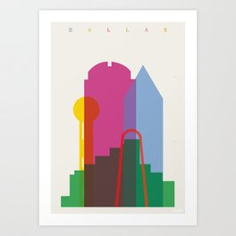 264x264 Dallas Art Prints