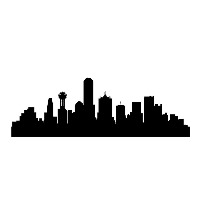 794x794 dallas city silhouette decal dallas silhouette vinyl decal etsy