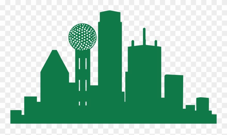 880x525 Dallas Skyline Clipart Free