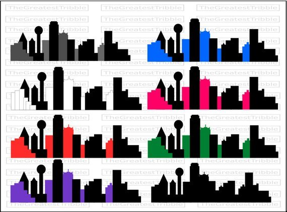 570x421 Dallas Skyline Drawing