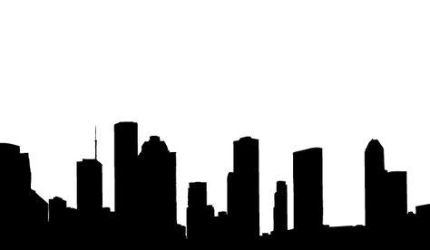 474x276 Houston Skyline Silhouette Large Vinyl Wall Decal