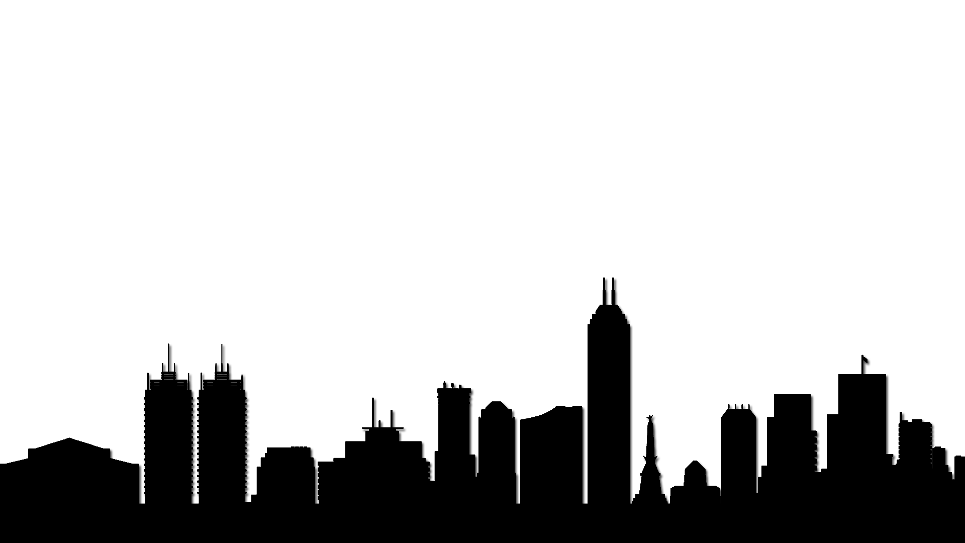 1920x1080 Atlanta Drawing Skyline Indianapolis Transparent Png Clipart