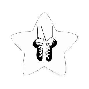 307x307 Dance Shoe Stickers Labels Zazzle Uk
