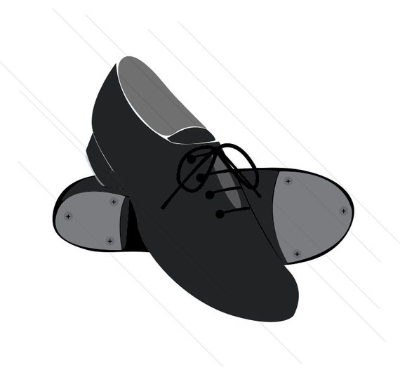 570x547 Drawing Shoes Tap Dance Shoe For Free Download