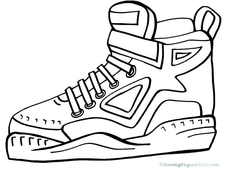 777x600 Shoes Coloring