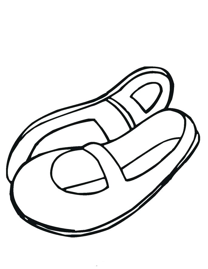 685x886 Coloring Pages Of Dance Shoes