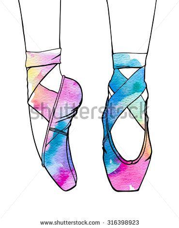 370x470 Ballerina's Feet In Dancing Ballet Shoes