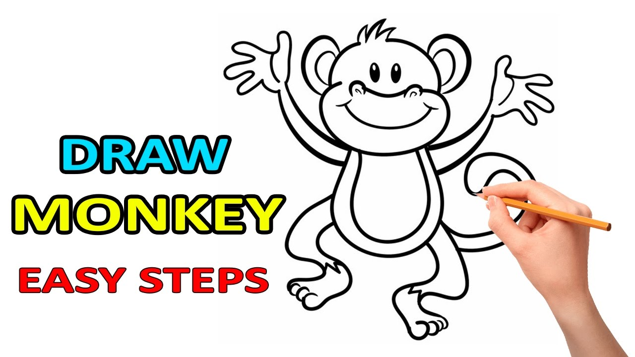 1280x720 Drawing Of A Dancing Monkey Easy Way For Beginners