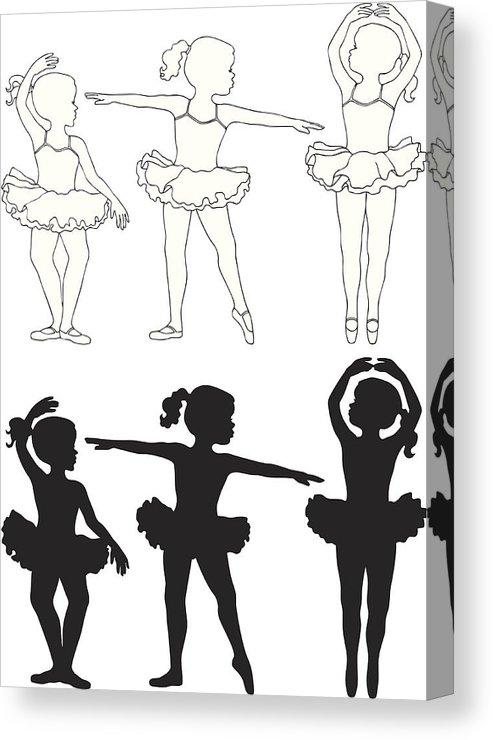 493x740 Little Girls Ballet Dancing Canvas Print Canvas Art