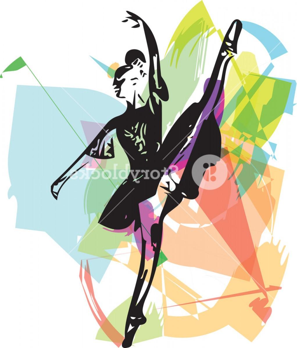 1022x1200 Abstract Drawing Of Ballerina Dancing Vector Illustration