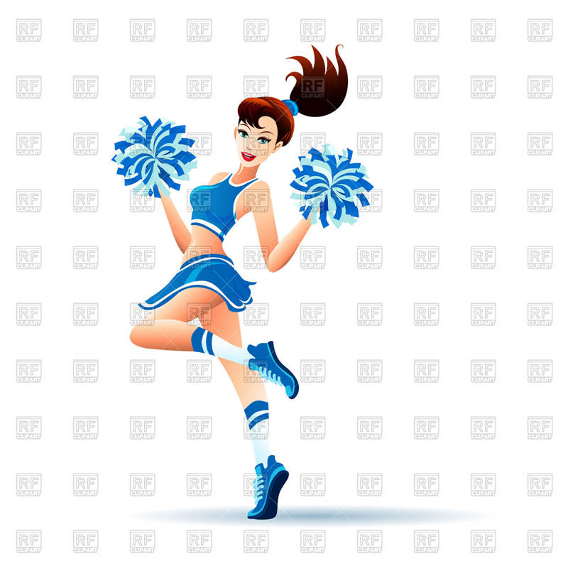 800x800 Awesome Cheerleader Clipart Young Dancing Drawing Pictures