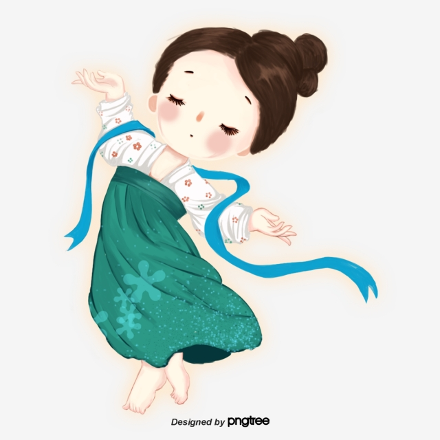 640x640 a lovely dancing girl, character, cartoon, lovely png clipart