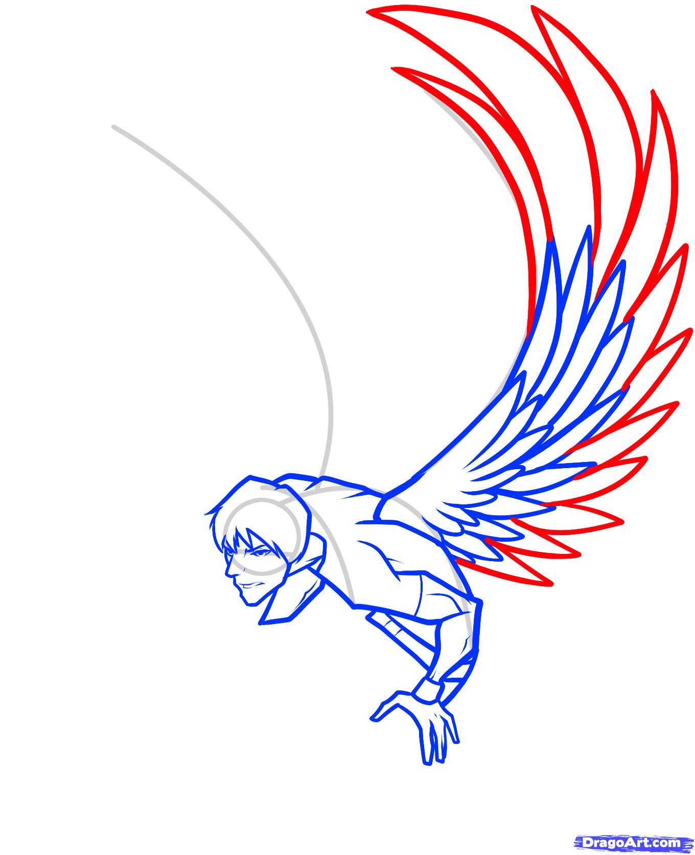 1360x1673 how to draw a dark angel, dark angel, step