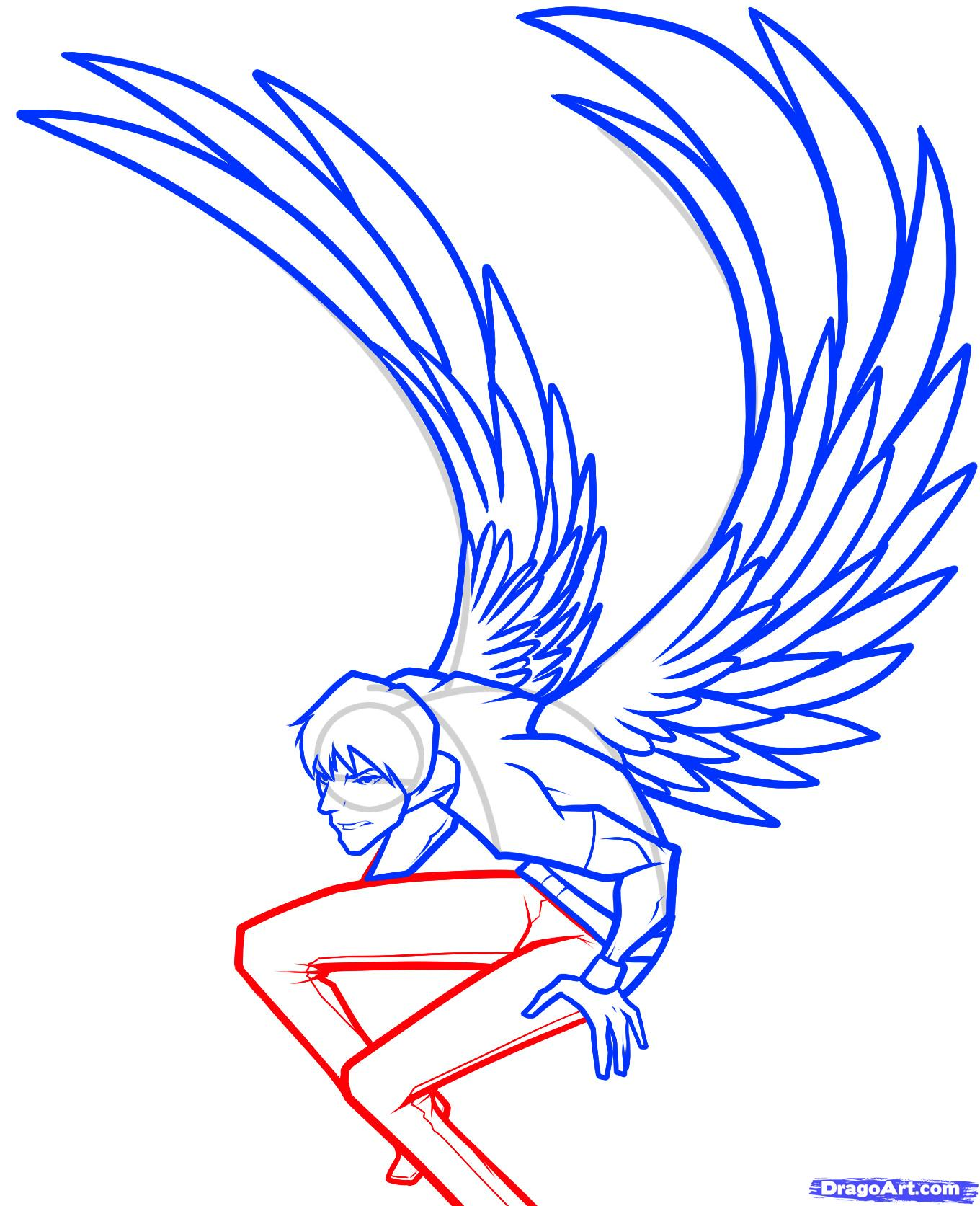 1360x1673 step how to draw a dark angel, dark angel