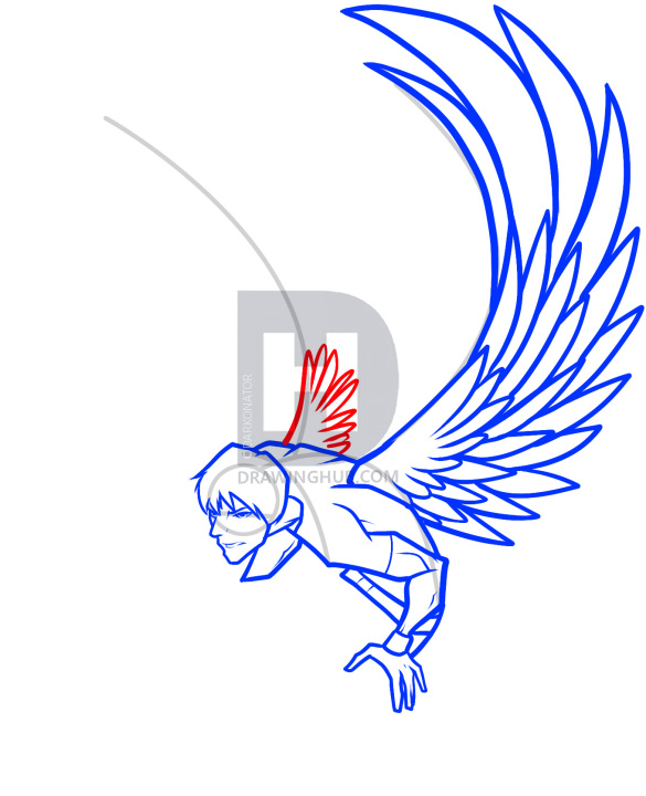 585x720 how to draw a dark angel, dark angel, step