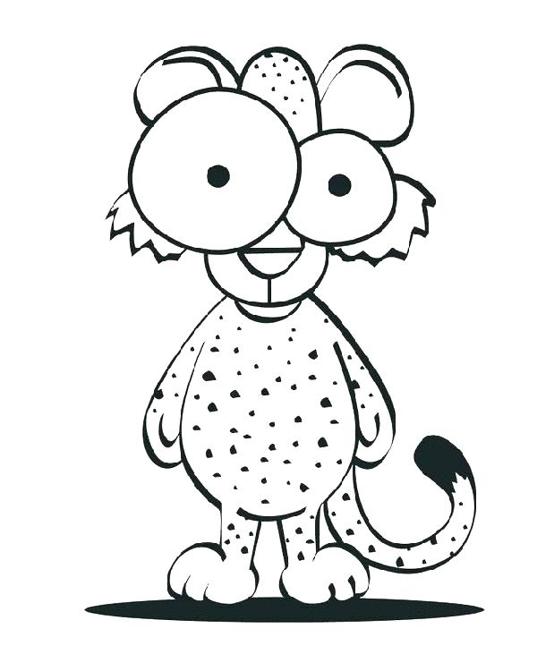 600x750 Cartoon Cheetah Coloring Pages Cheetah Cub Coloring Pages Cartoon