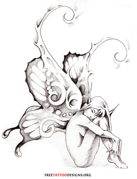 547x717 Nymph Drawing Dark Faerie For Free Download