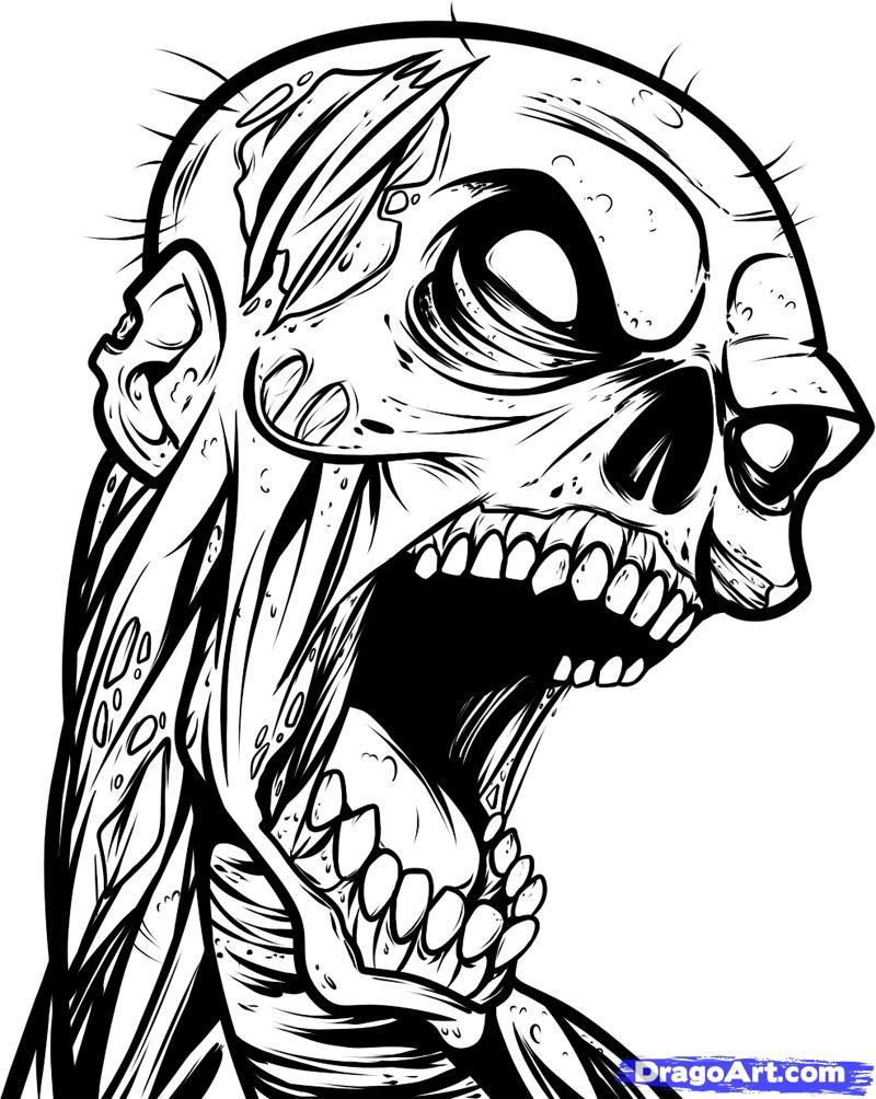 800x1004 Zombie Art Inspiration In Zombie Drawings, Zombie Tattoos
