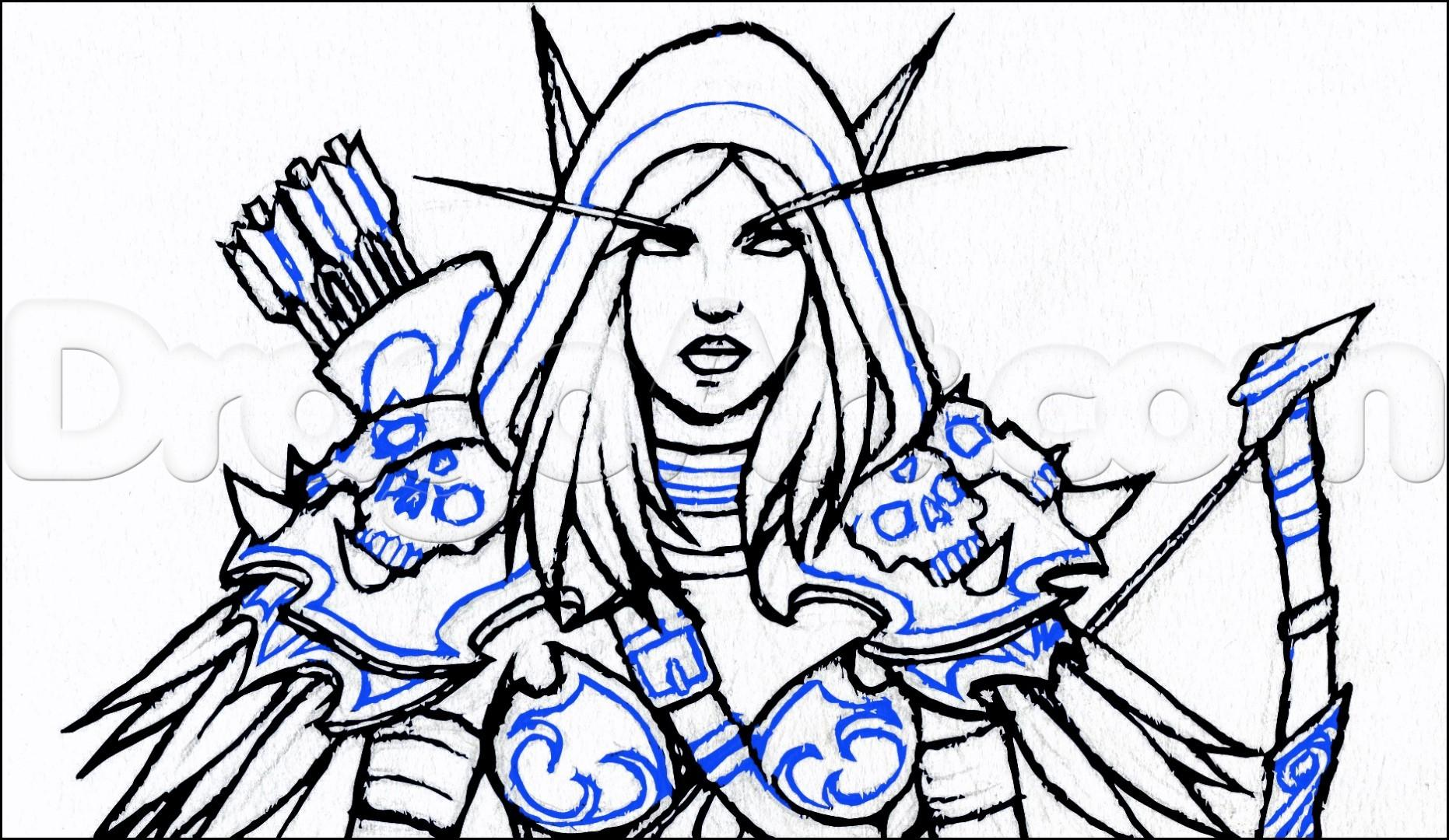 Dark Elf Drawing   Free download best Dark Elf Drawing on