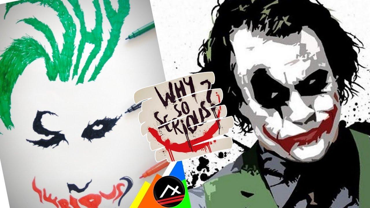 1280x720 How To Draw Joker Face