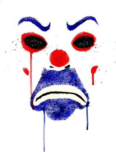 400x525 Joker Bank Robber Dark Knight Splatter Art