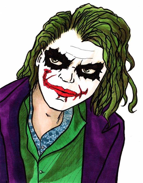 570x728 Agent Of Chaos Art Print Joker Heath Ledger Batman The Dark Etsy