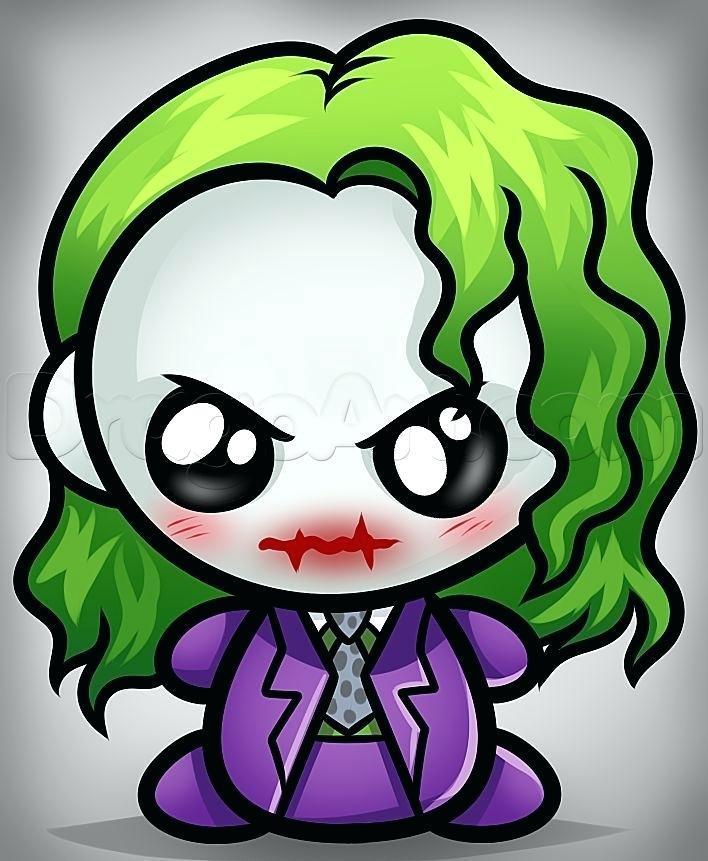 708x861 Joker Drawing Easy