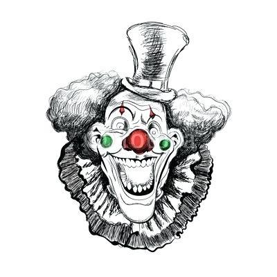 400x400 Joker Face Drawing
