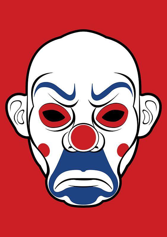 563x800 Batman 'clown Mask' From The Dark Knight