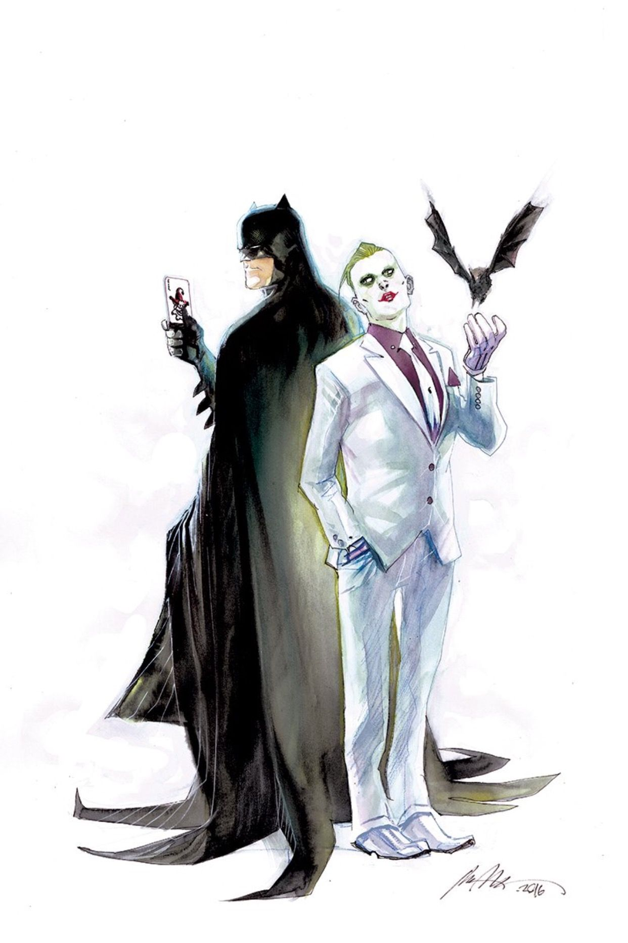 1242x1864 color batman joker just batty batman, dc rebirth, batman art