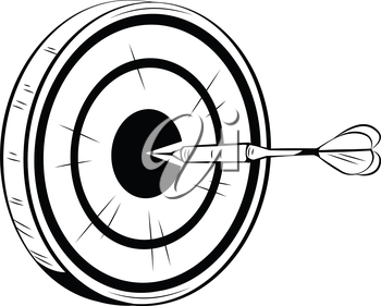 350x281 accurately thrown dart on target for a bulls eye aiming straight