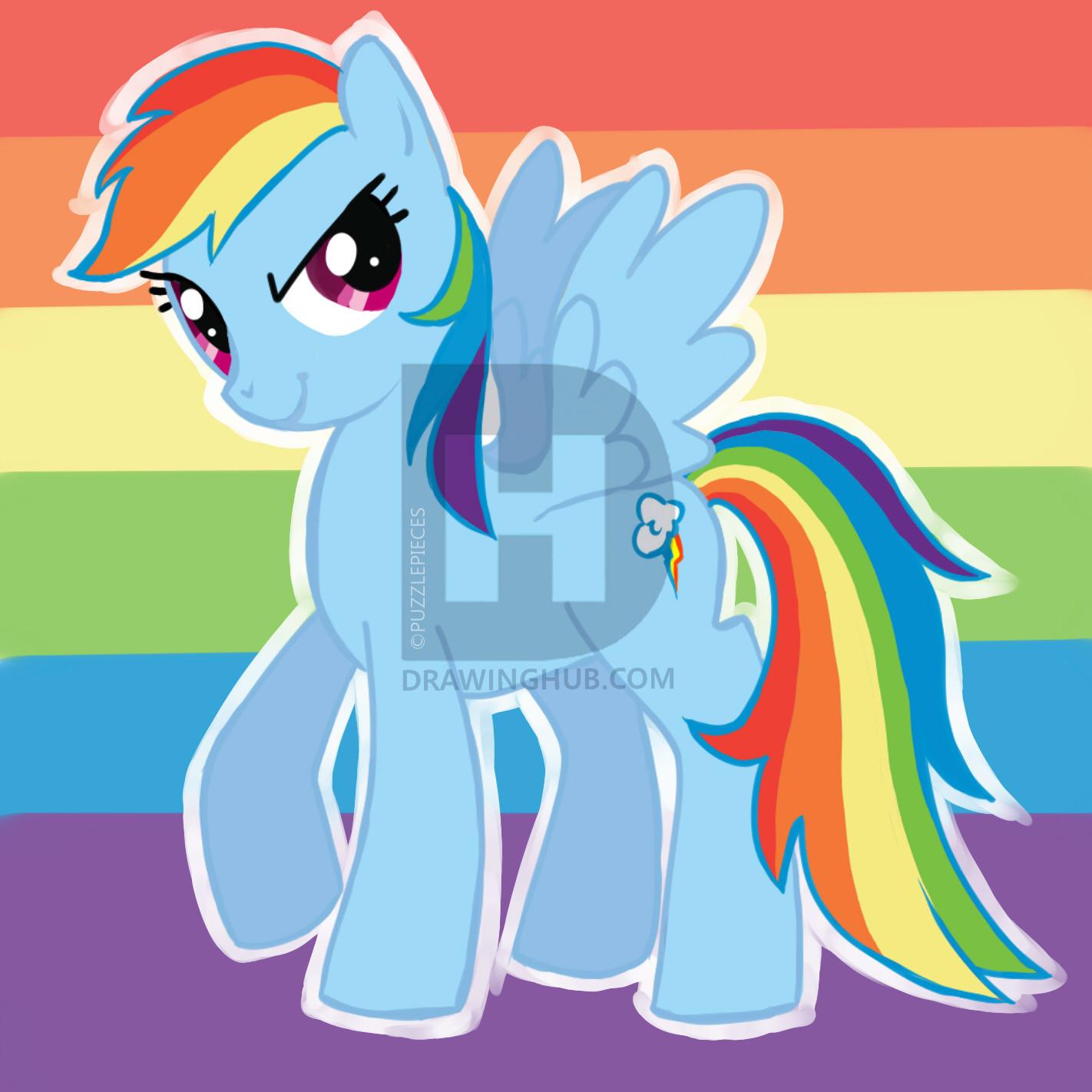 1422x1422 How To Draw Rainbow Dash, My Little Pony Friendship Is Magic, Step